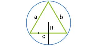Площадь равностороннего треугольника по радиусу описанной окружности