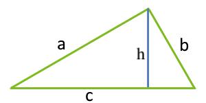 Площадь треугольника по основанию и высоте